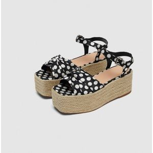 NWT Zara women's espadrilles size 10